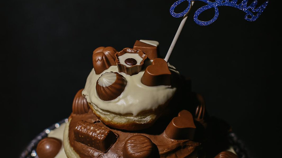 Chocolate Dairy Box Celebration Doughnut