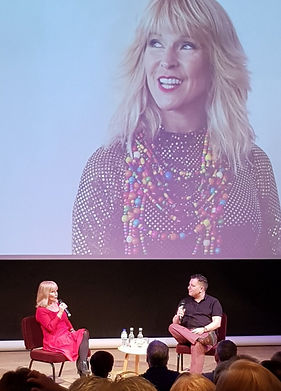 Alex Cann interviewing Toyah Willcox
