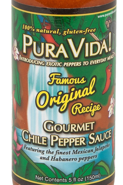 Pura Vida! Famous Original Recipe Pure Vida! Gourmet Chile Pepper Sauce