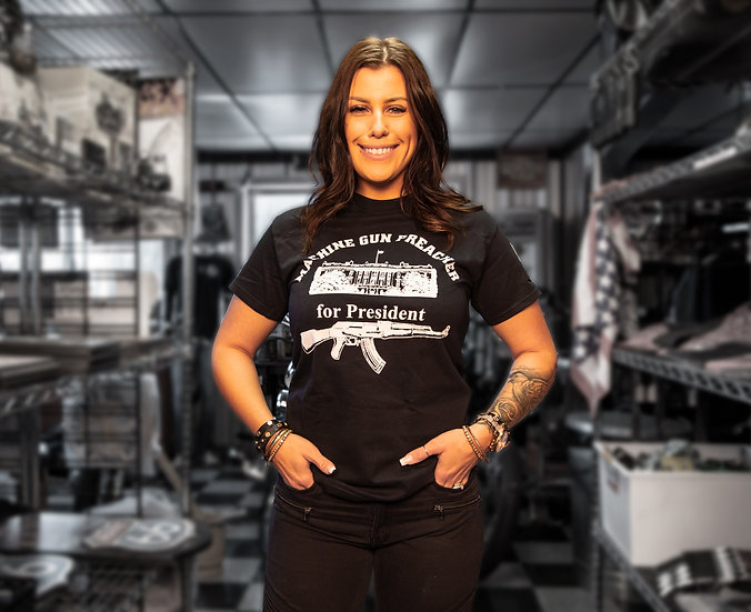 MACHINE GUN PREACHER FOR PRESIDENT TEE
