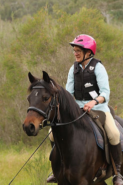 Club President Angela riding William in theTrail Challenge