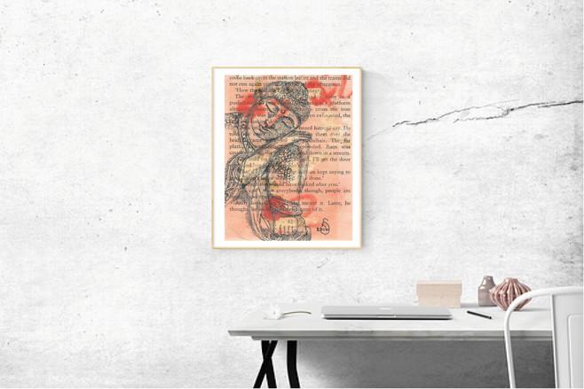 RomsArt Buddha art print