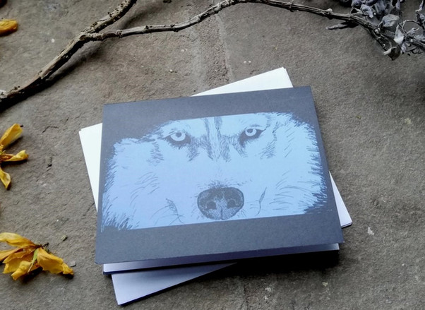 The Stare Greetings Card