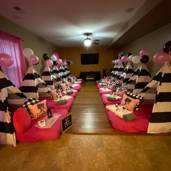 Full Barbie TeePee Party