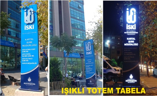 İSKİ KARTAL Totem Tabela