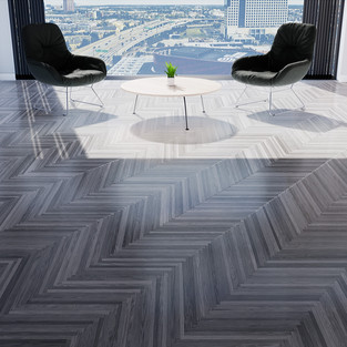 Parquet European Ash Gray - Single Herringbone