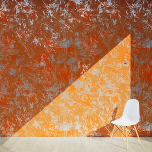 Scrapped Paint Orange