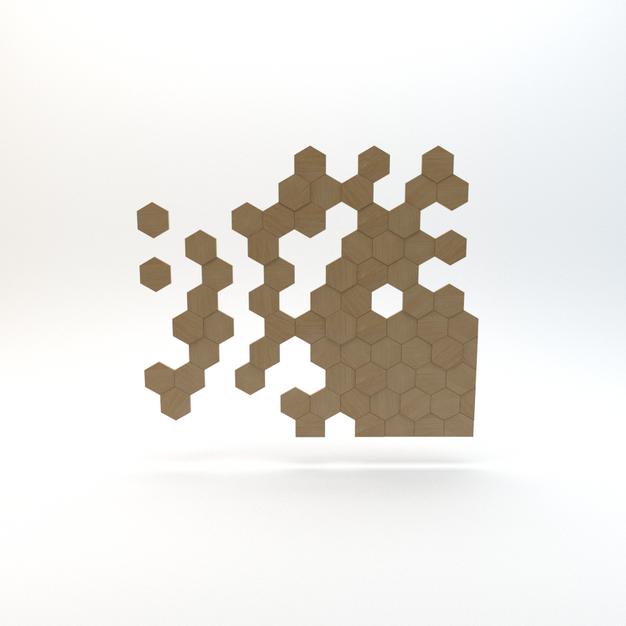 Hexagon Wood Panel