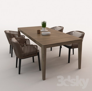 Patio Dining Set 02