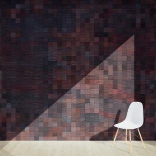 Pixel Patterned - Dark Walnut