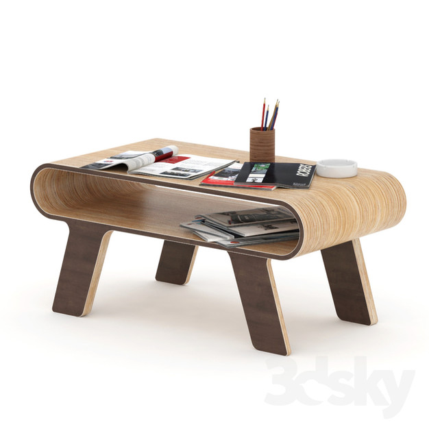 Coffee Table Made of Plywood