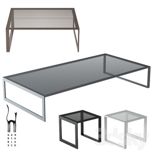 GANDIABLASCO Blau Low Table