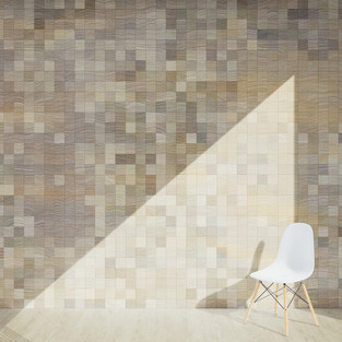 Pixel Patterned - Beech