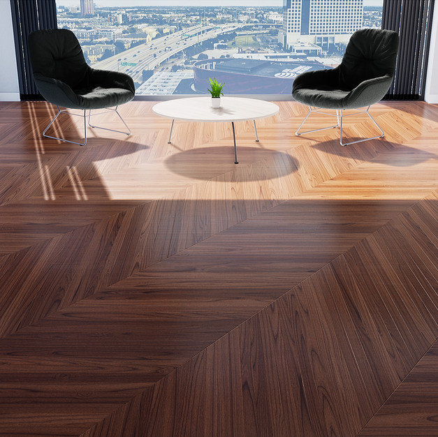 Parquet Mahogany - Hungarian Point