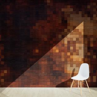 Pixel Patterned - Sandal Wood