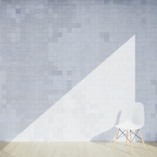 Pixel Patterned - Oak White