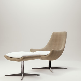 Desiree Chair With Footstool