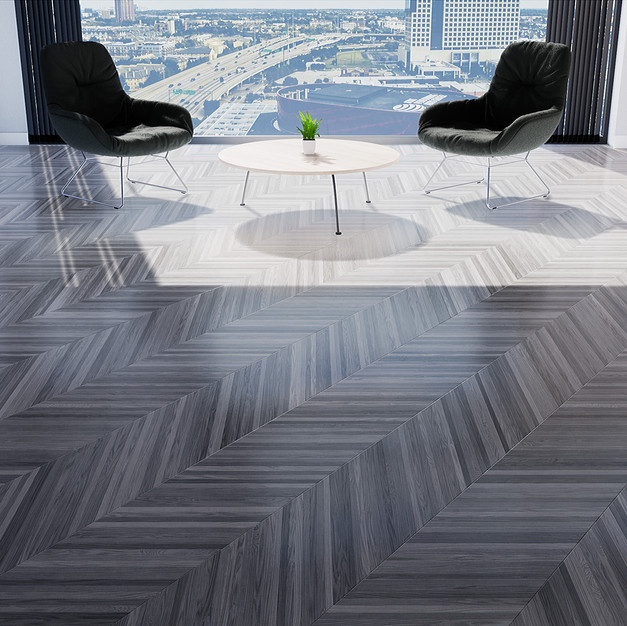 Parquet European Ash Gray - Hungarian Point