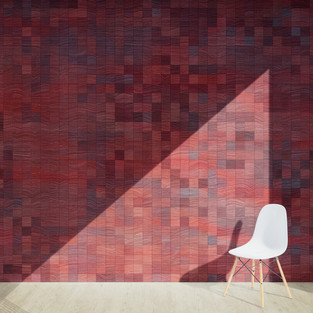 Pixel Patterned - Wine Red