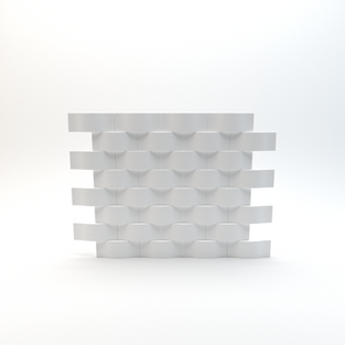 Sectioned 3D Wave Panel