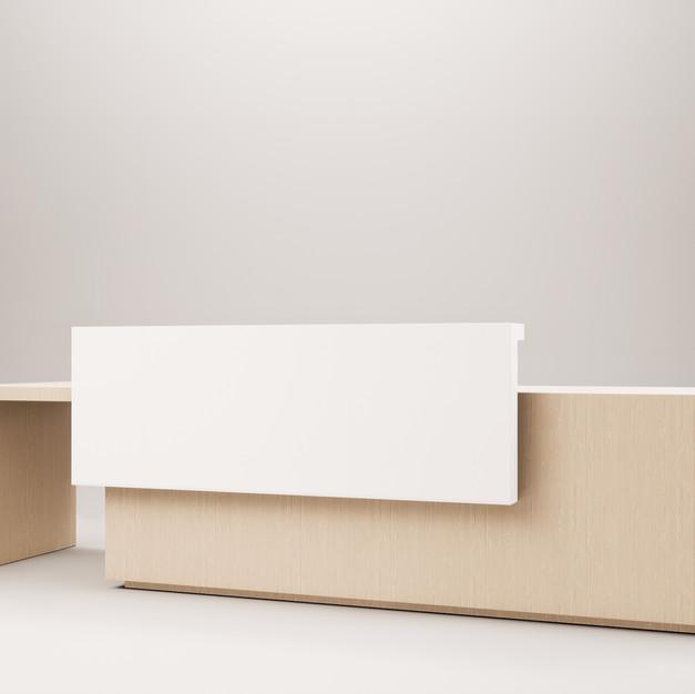 Lit Reception Desk