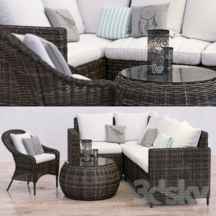 Wicker Sectional