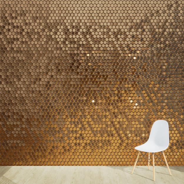 Bronze Hexagon Tiles