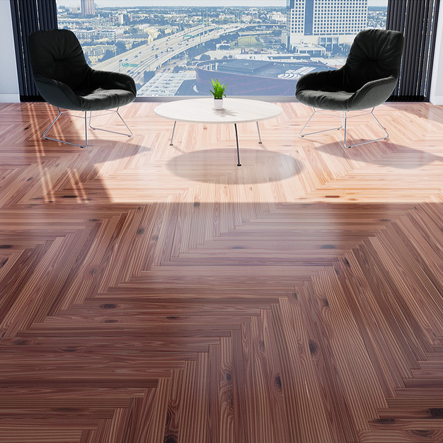 Parquet Red Cedar - Single Herringbone