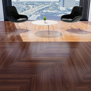 Parquet Mahogany - Single Herringbone