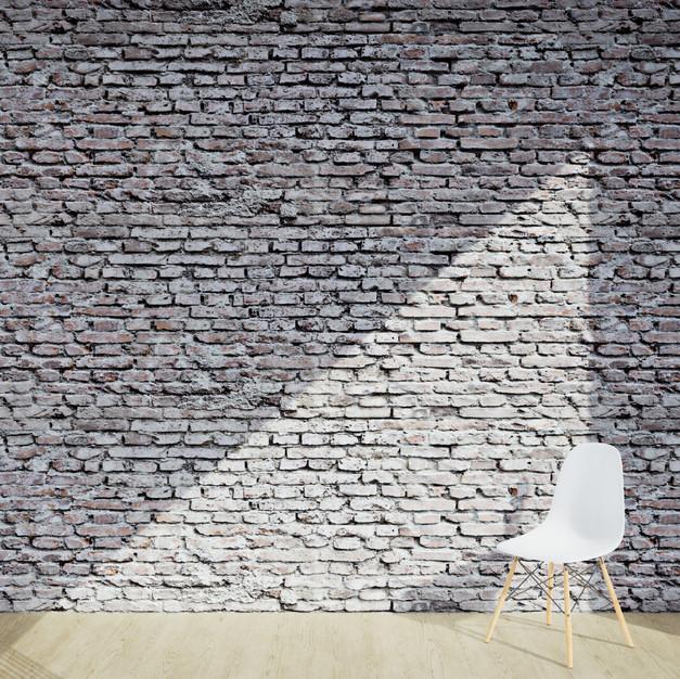 Bricks Worn Damaged White
