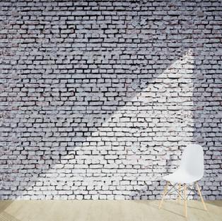 Bricks Grunge White