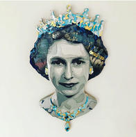 """""""Forever Queen"""" (37""""x21""""x2""""), 2019"""