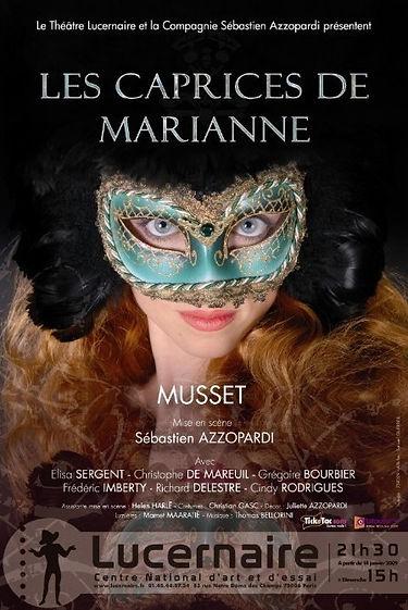 """Affiche """" Les Caprices de Marianne"""" Samuel Guerrier"""