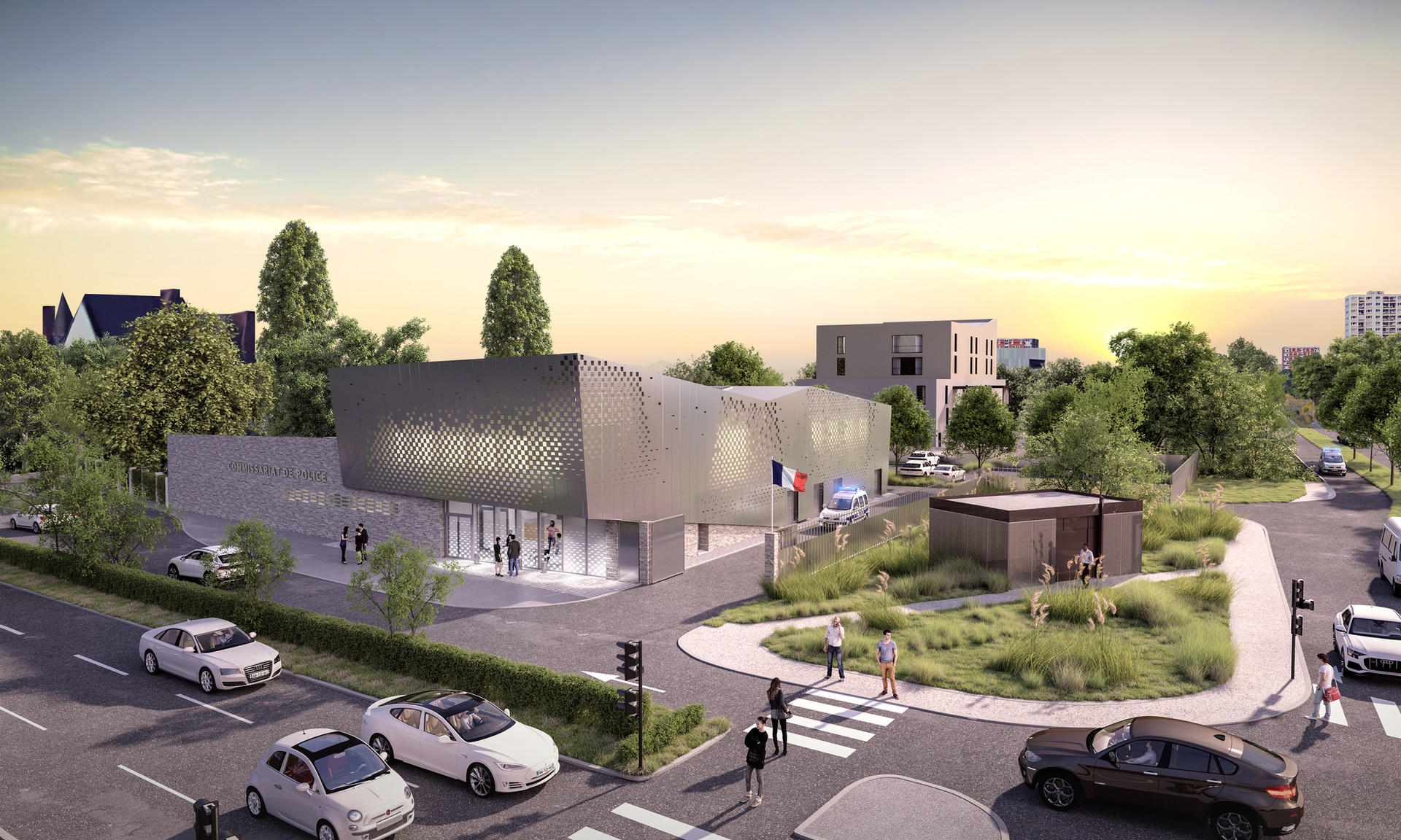 Insitu Architectes / Poste de police de Wattignie