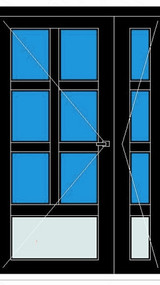 PVC Klasična vrata s ravnim i kosim prečkama