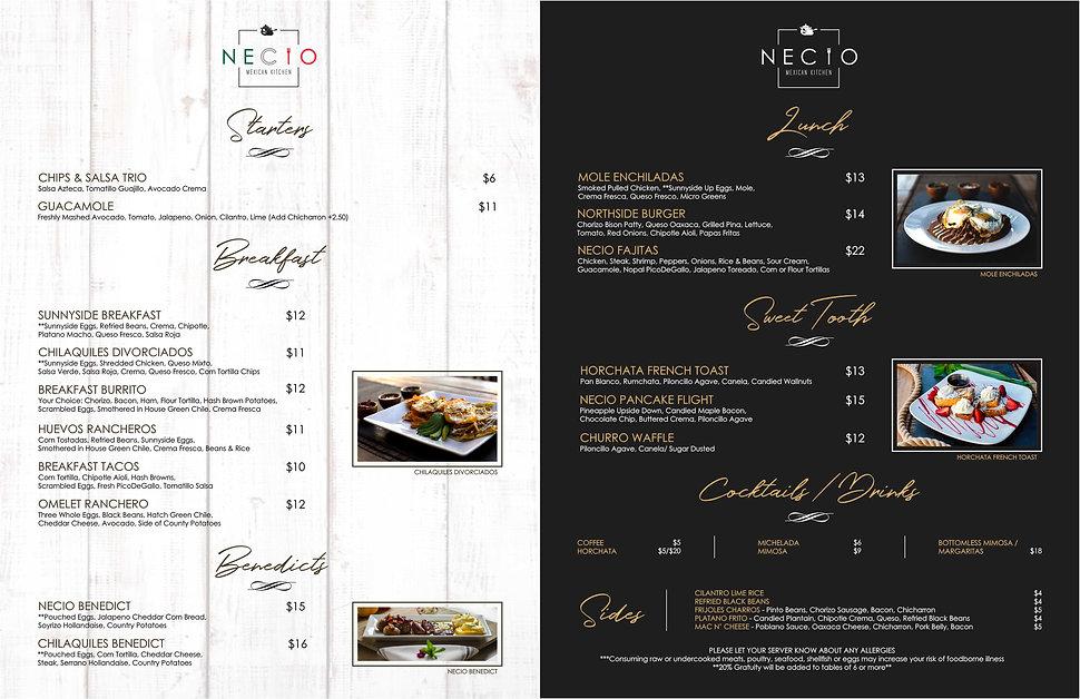 Necio-Mexican-Kitchen-Menu Brunch Interi