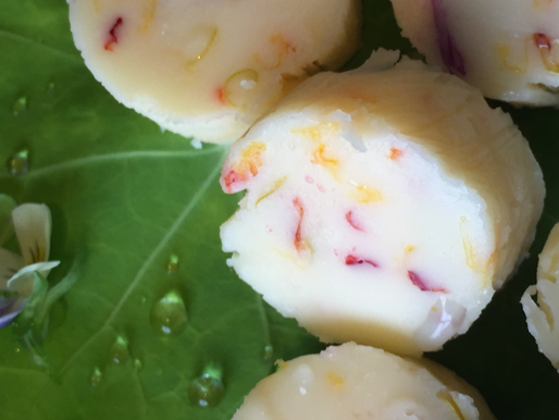 Nasturtium and Viola Butter