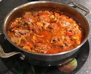 Pork Meat Balls in  Mediterranean Tomato Sauce