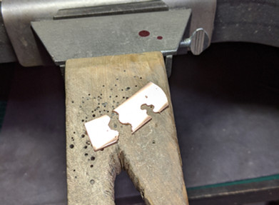 2 - practicing cuts on copper strips.jpg