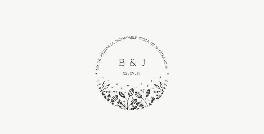 Sello de Boda Bouquet