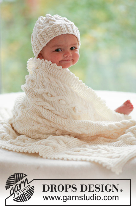 Vistoso Patrones Que Hacen Punto Para Bebés Mantas Imagen - Patrón ...