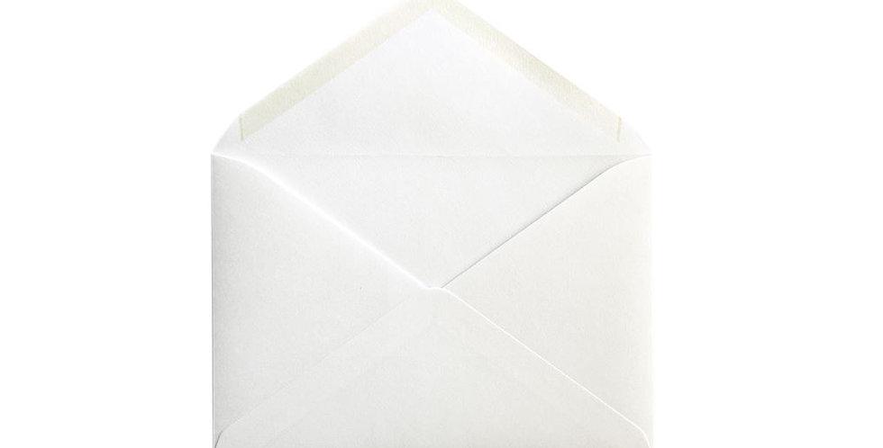 Pack 10 Sobres Rustic Cotton Blanco 12x17,4cm