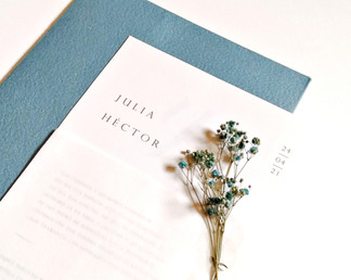 Invitación de boda - Flores Secas