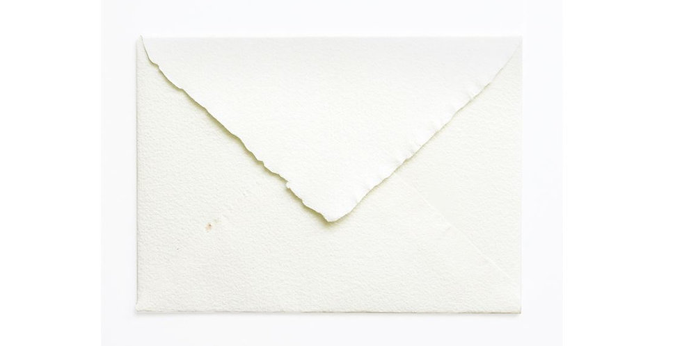 Pack 10 Sobres Artesanales Blanco