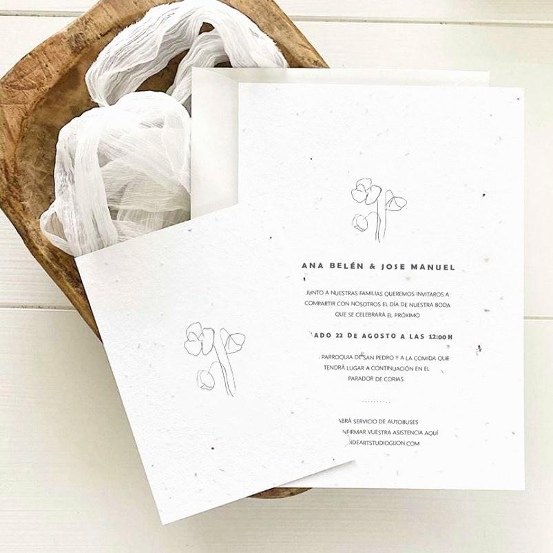 Invitación - Papel de Semillas