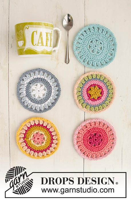 Patrón Crochet | Posavasos de ganchillo \