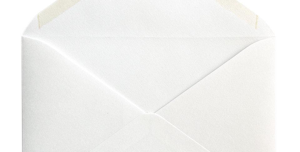 Pack 10 Sobres de Boda Rustic Cotton Blanco C5 (16,2x22,9cm)