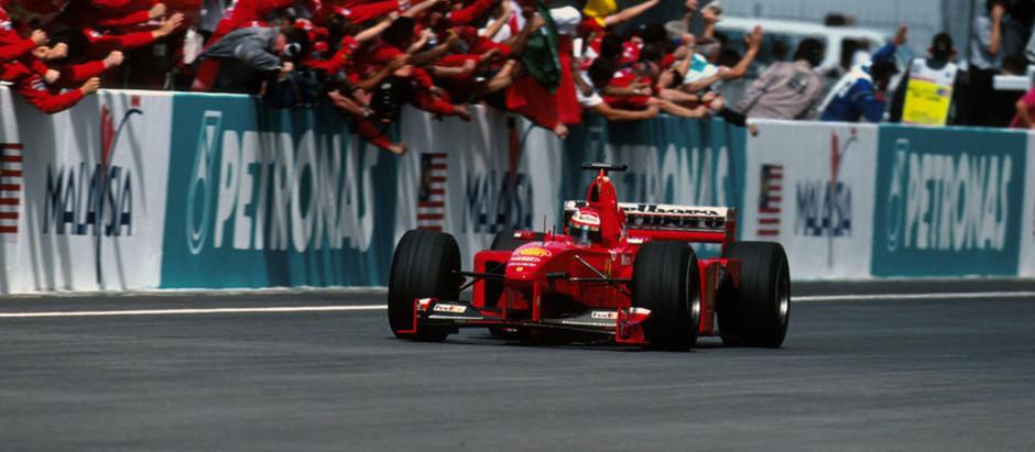 #16 1999: GP della Malesia, Eddie Irvine vince grazie a Schumacher, poi è squalificato, ma...