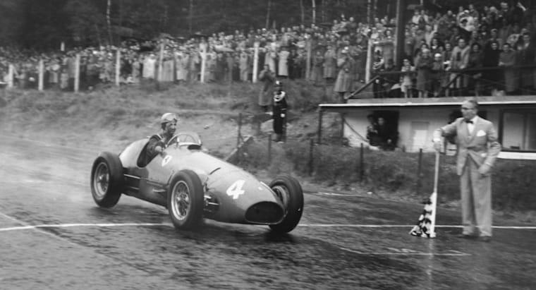 #4 1952: GP del Belgio, è doppietta Ferrari, Ascari trionfa in solitaria, seguito da Giuseppe Farina