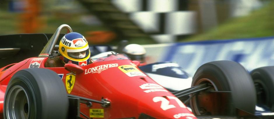 Michele Alboreto, the Italian vice-champion with Ferrari